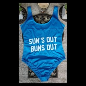 Sun's Out Buns Out SEXY One-Piece Swim Suit
